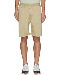 Nanamica Elastic Waist Zip Pocket Chino Shorts - Natural