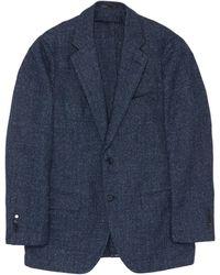 Tomorrowland Donegal Tweed Soft Blazer - Blue