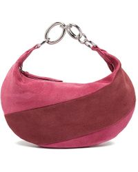 BY FAR 'bougie' Colourblock Suede Slouchy Hobo Bag - Pink