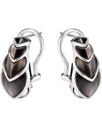 John Hardy - 'legends Naga Buddha Belly' Mother Of Pearl Silver Earrings - Lyst