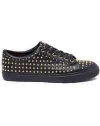 Pedder Red - 'jeff' Stud Pavé Leather Sneakers - Lyst