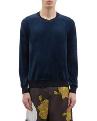 3.1 Phillip Lim Velour Raglan Sweatshirt - Blue