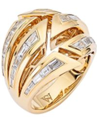 Stephen Webster Dynamite Bombé' Diamond 18k Gold Ring - Metallic
