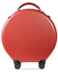 OOKONN - Round Carry-on Spinner Suitcase – Red - Lyst