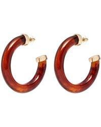 Kenneth Jay Lane - Large Hoop Earrings - Lyst