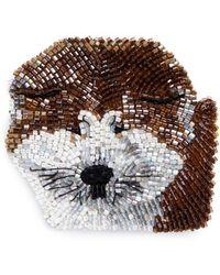 Mignonne Gavigan - Beaded Dog Brooch – Akita - Lyst