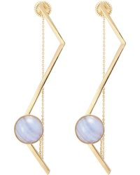 OLIVIA YAO - 'fliegt' Lace Agate Magent Angular Bar Earrings - Lyst