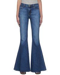 J Brand 'valentina' Super Wide Flared Leg Jeans - Blue