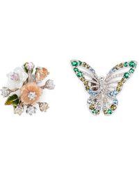 Anabela Chan - 'butterfly Bouquet' Mismatched Stud Earrings - Lyst