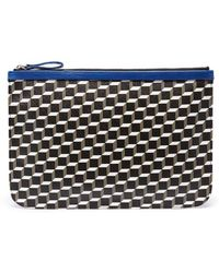 Pierre Hardy 'perspective Cube' Print Large Pouch - Multicolour
