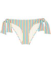 Solid & Striped - 'the Mackenzie' Tie Stripe Seersucker Bikini Bottoms - Lyst