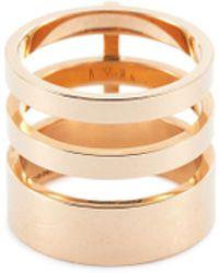 Repossi 'berbère Module' 18k Rose Gold Three Row Ring - Metallic