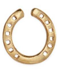 Loquet London - 18k Yellow Gold 'horseshoe' Charm – Protection - Lyst