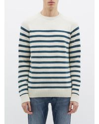 Denham - Stripe Sweater - Lyst