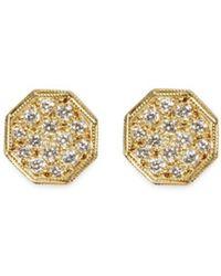 Ila & I - 'ayani' Diamond 14k Gold Silver Octagon Stud Earrings - Lyst
