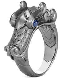 John Hardy 'legends Naga' Sapphire Rhodium Silver Ring - Metallic
