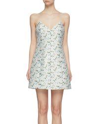 Alice + Olivia 'tayla' Floral Print Structured Mini Dress - Multicolor