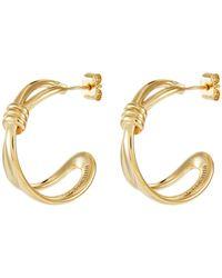 Philippe Audibert 'reese' Cinched Knot Cutout Earrings - Metallic