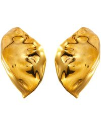 MISHO Flow' Gold Plated Ear Caps Women Accessories Fashion Jewelry Earrings Flow' Gold Plated Ear Caps - Metallic