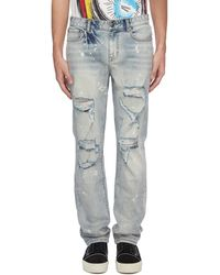 Haculla Graphic Chenille Patch Ripped Jeans - Blue