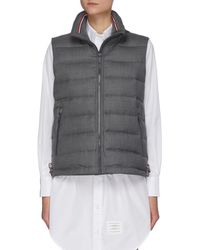 Thom Browne Down Filled Vest - Grey