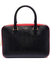 Thom Browne - Stripe Pebble Grain Leather Business Bag - Lyst
