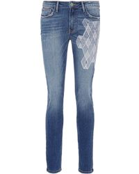Sandrine Rose - 'the Hyde' Geometric Embroidered Skinny Jeans - Lyst