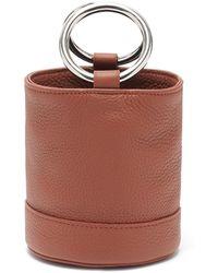 Simon Miller 'bonsai 15' Metal Ring Handle Leather Bucket Bag - Brown