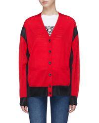 Sonia Rykiel - Colourblock Wool Blend Cardigan - Lyst
