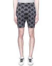 Attachment - Star Print Sweat Shorts - Lyst