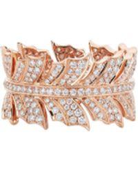 Stephen Webster Magnipheasant' Diamond 18k Rose Gold Ring - Pink