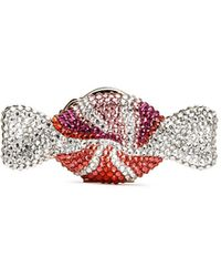 Judith Leiber 'candy' Peppermint Swirl Crystal Pill Box - Red