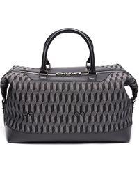 AU DEPART - 'louis' Geometric Pattern Leather Trim Weekender Bag - Lyst