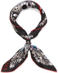Alexander McQueen 'bandana Treasure' Twill Silk Scarf - Multicolor