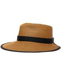 Eric Javits Sun Crest' Straw Visor Hat - Brown