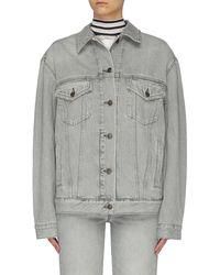 Acne Studios Stone Washed Denim Jacket - Grey
