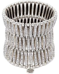 Philippe Audibert - 'almond' Swarovski Crystal Three Row Plate Elastic Bracelet - Lyst