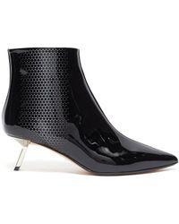 Alchimia Di Ballin 'libra' Cutout Triangle Patent Leather Ankle Boots - Black