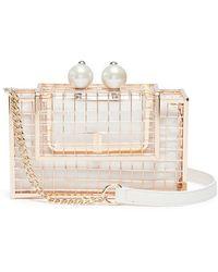Cecilia Ma - 'pearl Cage' Brass Clutch - Lyst
