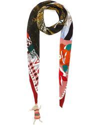 Rumisu Loba Silk Scialle Scarf Women Accessories Scarves & Wraps Loba Silk Scialle Scarf - Red
