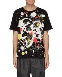Angel Chen Shepherd Paint Splatter Print T-shirt - Black