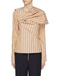 Ffixxed Studios - Crossover Panel Pinstripe Top - Lyst