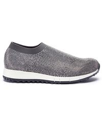 Pedder Red - 'davis' Strass Pavé Knit Sock Sneakers - Lyst