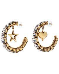 Erickson Beamon - 'emerald City' Swarovski Crystal Mismatched Hoop Earrings - Lyst