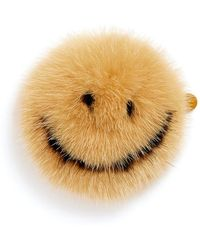 Anya Hindmarch 'smiley' Mink Fur Sticker - Yellow