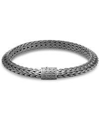 John Hardy - 'classic Chain Tiga' Silver Rhodium Small Bracelet - Lyst