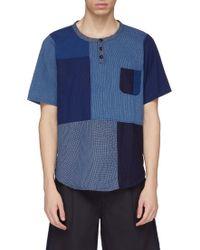 FDMTL - Chest Pocket Boro Patchwork Short Sleeve Shirt - Lyst