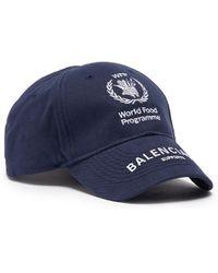 e87c2556 Balenciaga - X World Food Programme Logo Embroidered Baseball Cap - Lyst