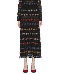 Sonia Rykiel - Cotton-blend Jacquard Midi Skirt - Lyst