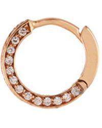 Repossi - 'mini Créole' Diamond 18k Rose Gold Single Earring - Lyst